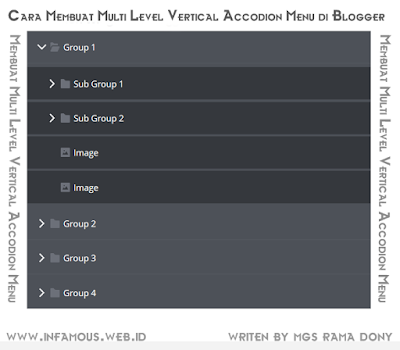 Cara Membuat Multi Level Vertical Accodion Menu di Blogger