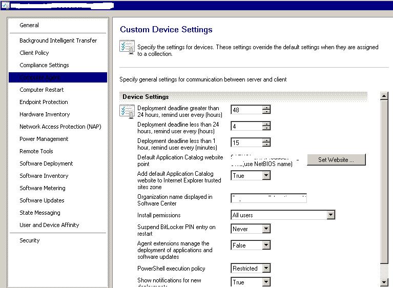 SCCM - Client Settings - Notification & Restart Questions : SCCM