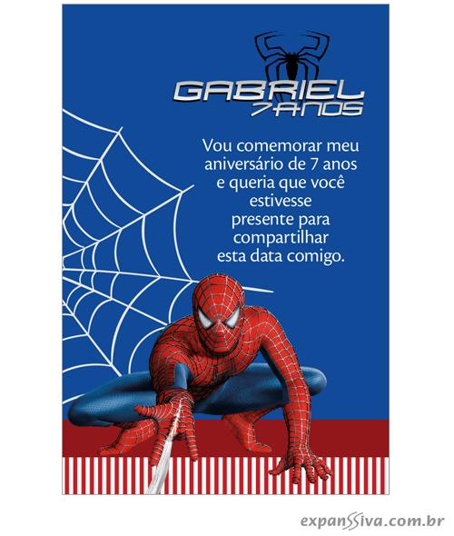 convites aniversario homem aranha jogando a teia - Convites de Aniversário do Homem Aranha