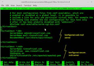 Instalasi dan konfigurasi web mail server pada linux