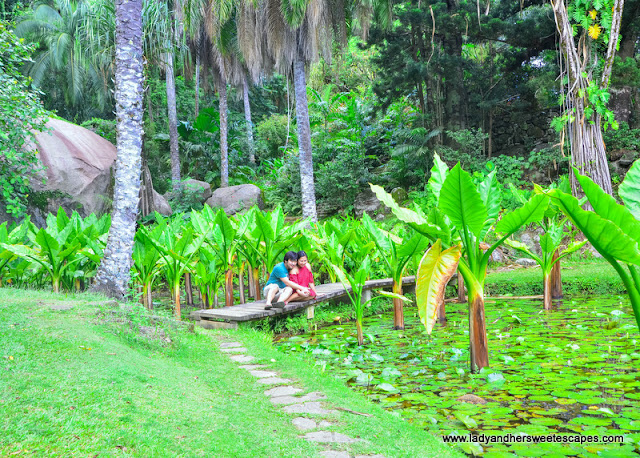 Ed and Lady in Seychelles Botanical Garden