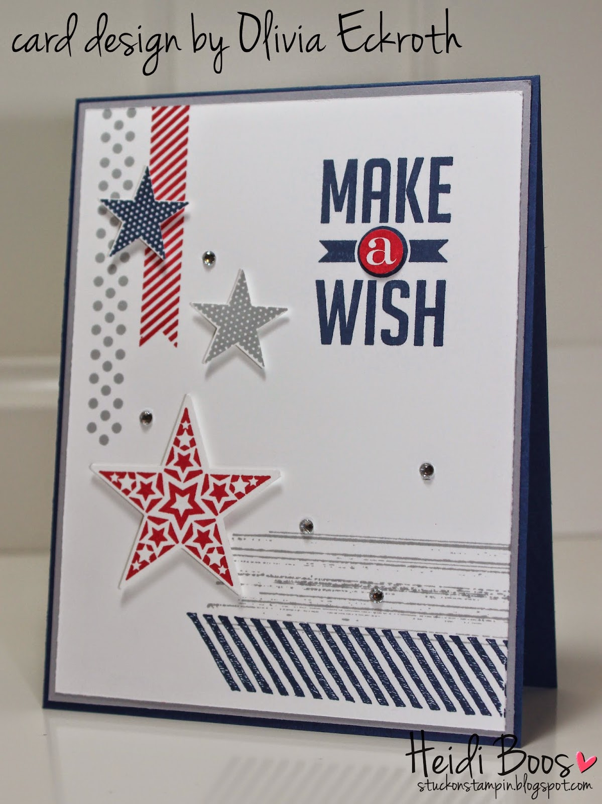 This Last Card Was One My 8 Year Old Daughter Made She Also Wanted To Create A For Her Cousins Birthday And Since It Is On The 4th Of July Stuck