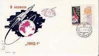 francobolli e cartoline dedicati a Zond 1