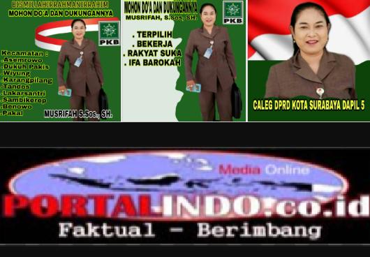 Musrifah.S.Sos.SH Merupakan Caleg DPRD Kota Surabaya Dapil 5 Partai PKB