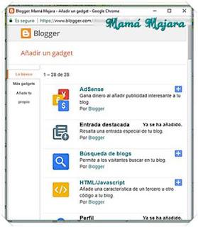 Editor Añadir Gadget