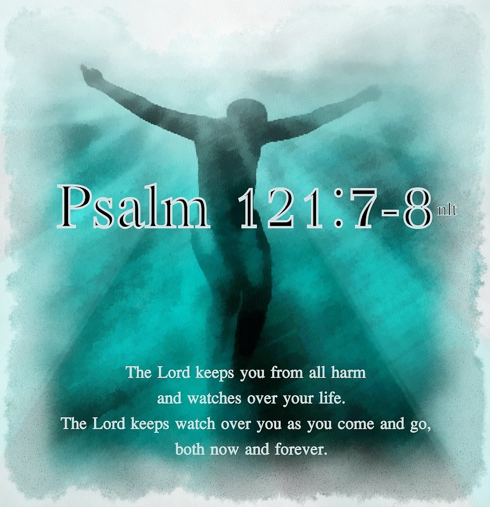The Lord will keep you from all harm - he will watch over your life; the Lord will watch over your coming and going both now and forevermore.