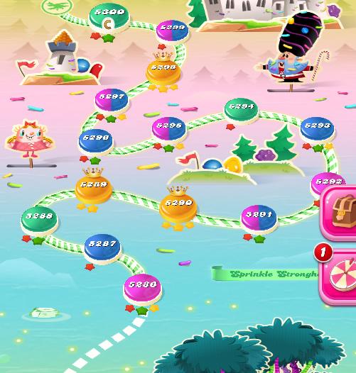 Candy Crush Saga level 5286-5300