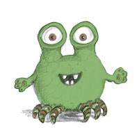 Skizzen, Monster, Kinderbuchillustration