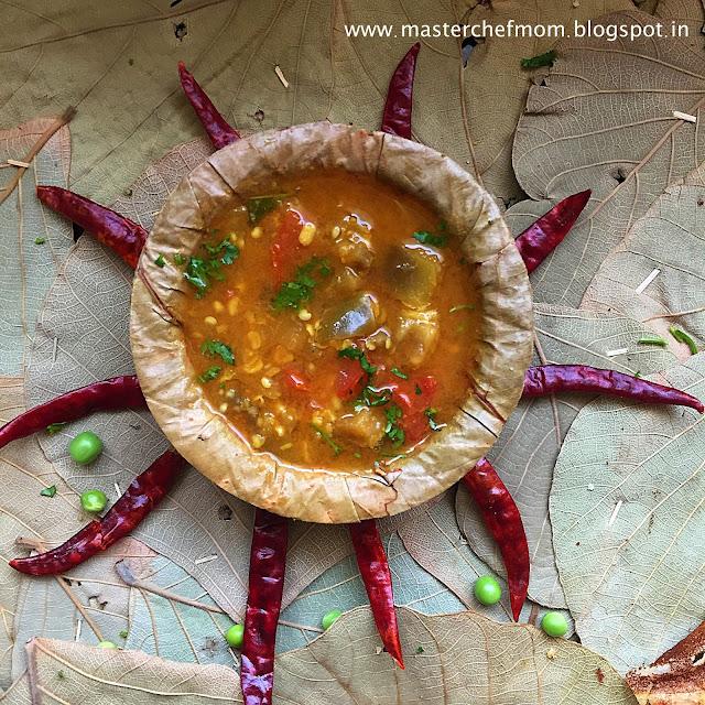 Brinjal Tiffin Sambar