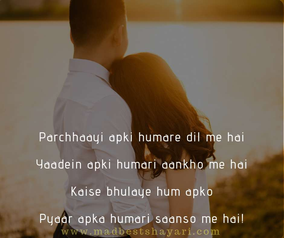 Love Shayari in Hindi for Girlfriend 140 words images, love shayari image