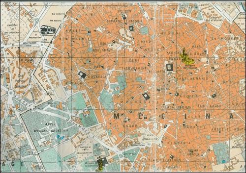 Plan de la Médina de Marrakech ( pas entier )