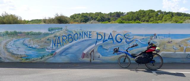 De Paris à Narbonne en vélo, Narbonne-Plage