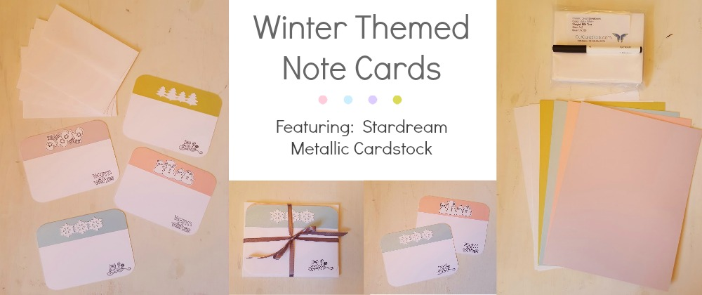 Winter Themed Stardream Note Cards \u2013 CutCardStock