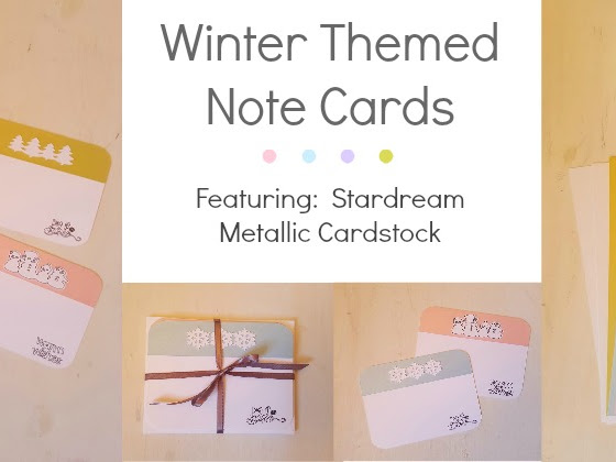 Winter Themed Stardream Note Cards