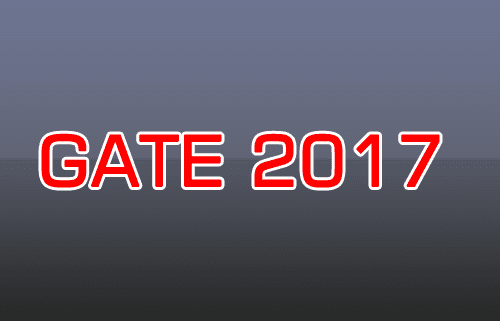 gate 2017 application form, admit card, result