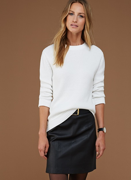 Baukjen Penrose Leather Mini Skirt