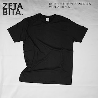 Kaos Polos Hitam - Zetabita