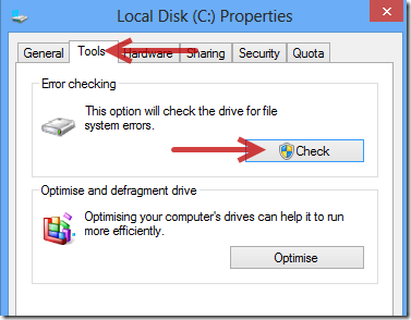 How to run a disk check in windows 7 using the command prompt.