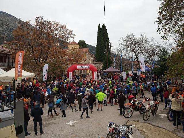 Πλήθος κόσμου στον Αγώνα Ορεινού Τρεξίματος στην Καρυά Αργολίδας