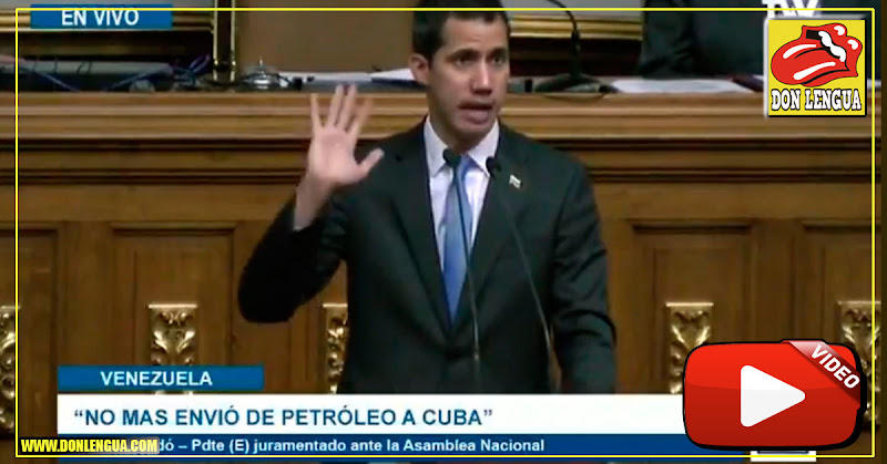 Juan Guaidó solicita cooperación para bloquear el envío de petróleo a Cuba