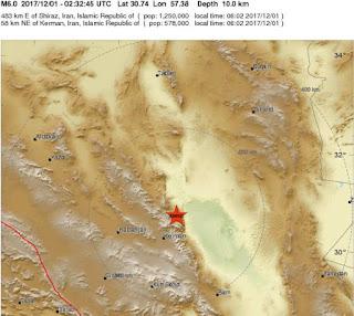 6.0-magnitude shallow quake hits Iran