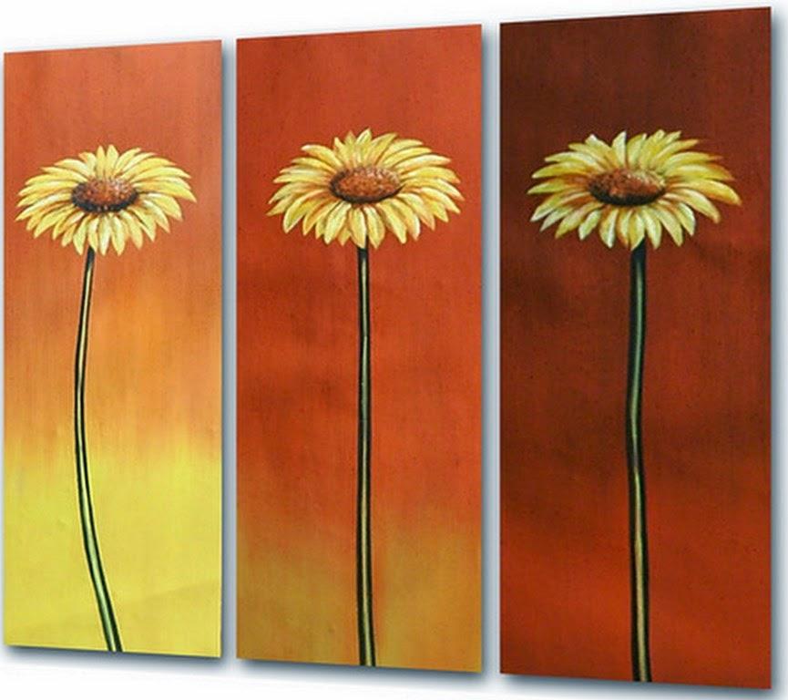Cuadros modernos pinturas y dibujos cuadros de flores for Imagenes de cuadros abstractos para colorear