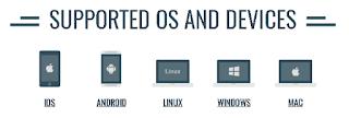 Berbagai Support perangkat dari Os dan Device