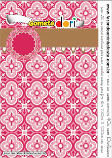Retro Pink and Brown: Free Printable Candy Bar Labels.