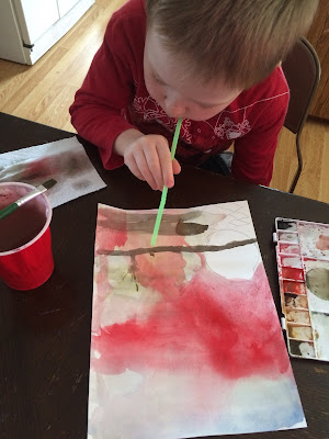 "Learning about watercolors and giving ourselves grace when we do ""learning projects"" -- and mixing in a little family history for fun."