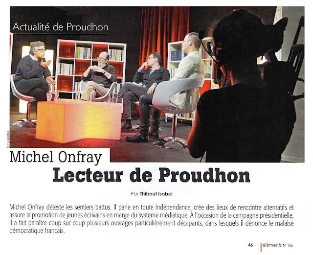 Onfray Isabel Proudhon éléments