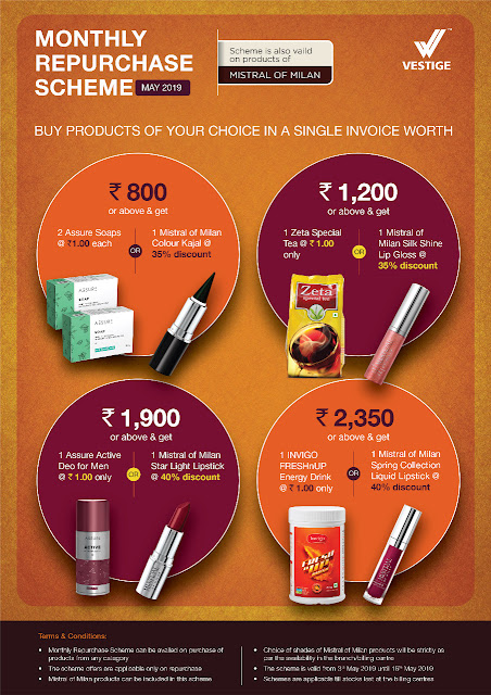 Vestige Re-Purchase Offer May 2019 for Distributors