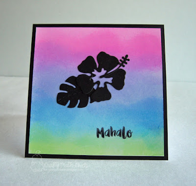 Mahalo Hibiscus card by Crafty Math Chick | Hibiscus die set by Newton's Nook Designs