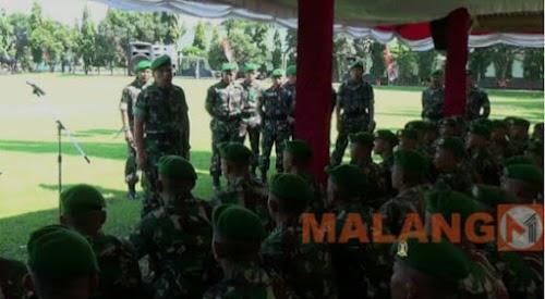 Pangdam Lepas 98 Prajurit Yon Zipur ke Lombok