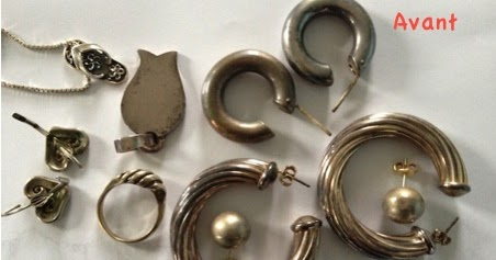 les astuces de f e paillette comment nettoyer ses bijoux en argent sans frotter. Black Bedroom Furniture Sets. Home Design Ideas