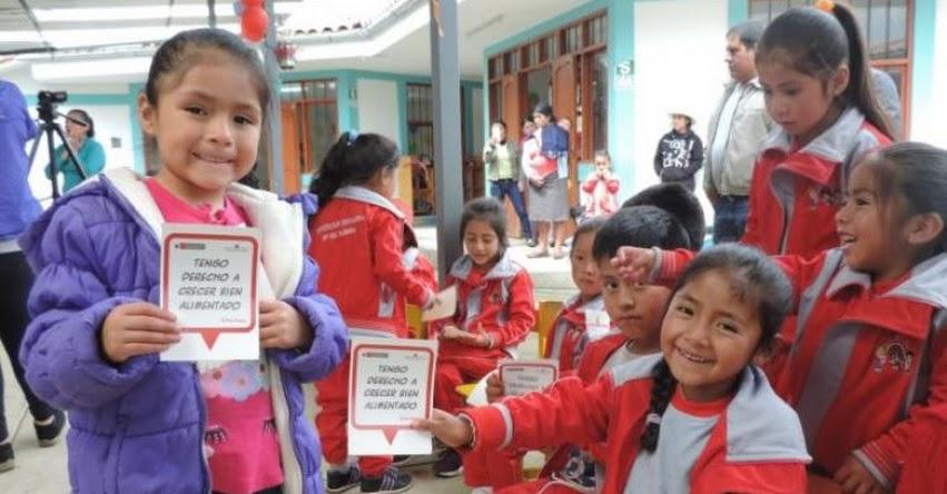QALI WARMA: Más de 265 mil niños y niñas de Cajamarca reciben servicio alimentario escolar del programa social - www.qaliwarma.gob.pe