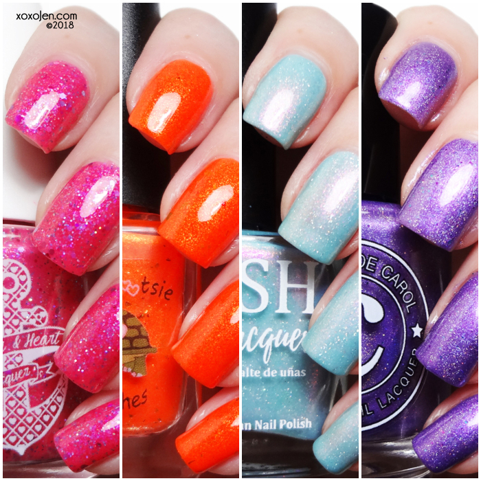 xoxoJen's swatch collage of Seasonal Indie Box
