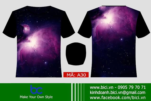 mẫu áo lớp galaxy độc