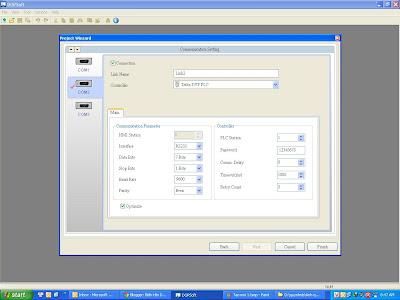 Hướng dẫn tạo cổng kết nối PLC khi lập trình màn hình cảm ứng HMI Delta B07S411 7.0 inch