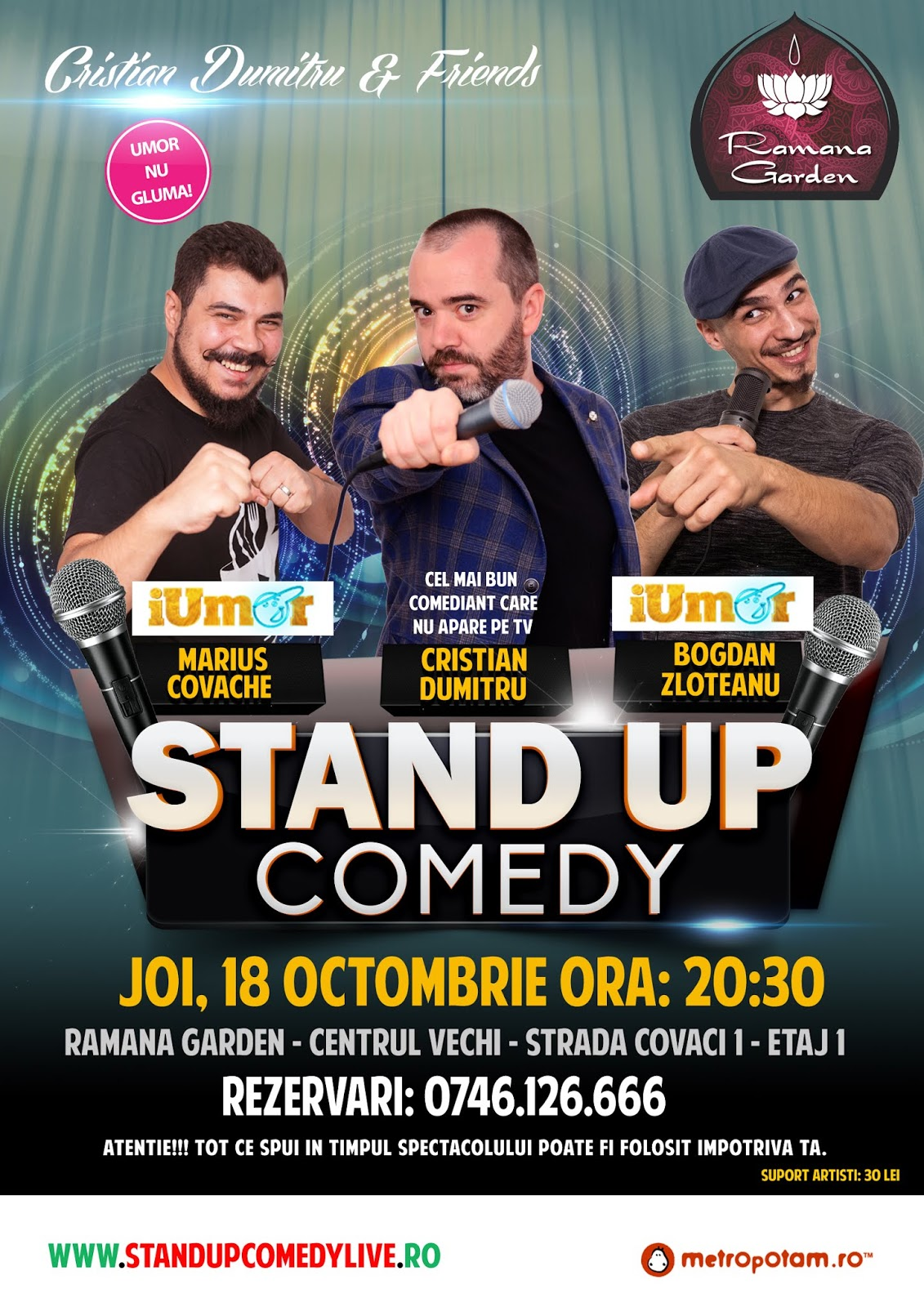 Stand-Up Comedy Bucuresti Joi in Centrul Vechi