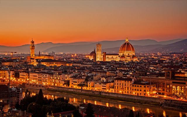 Cidade turística Florença na Itália