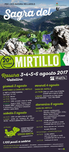 Sagra del Mirtillo 3-4-5-6 agosto Rasura (SO)