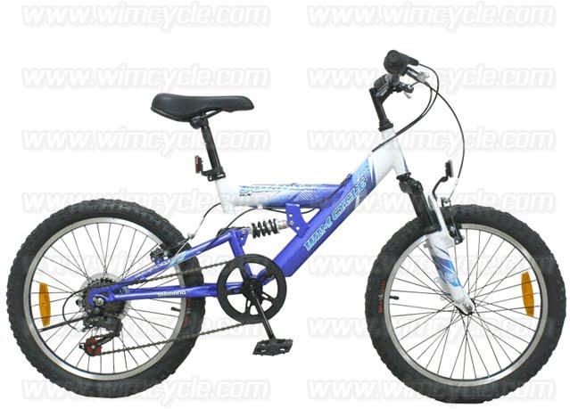 Tokosarana Mahasarana Sukses Sepeda Gunung Remaja Wimcycle Vulcan Full Suspension 6 Speed 20 Inci