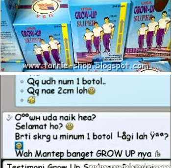 Testimoni Grow Up Super USA Peninggi Badan