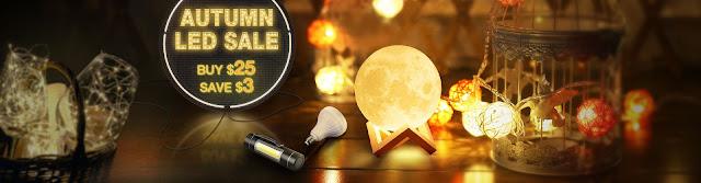 AUTUMN LED LIGHTING SALE, Buy $25 Save $3