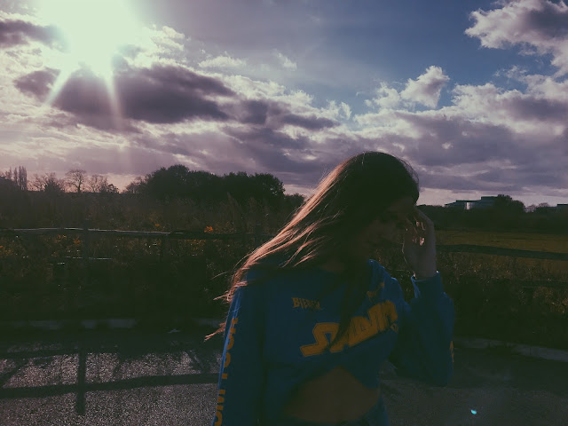 A PRETTY SKY AND MY SISTER - PHOTOGRAPHY BY GEORGIA