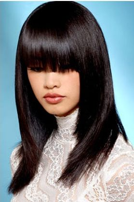 Straight Hairstyles Asian Bangs Cute Women Haircut Young Haircuts S