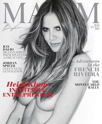 Heidi Klum topless model photo
