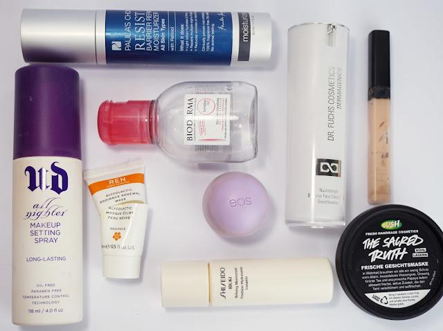 Aufgebrauchte Kosmetik - Jänner 2017 (Gesicht)