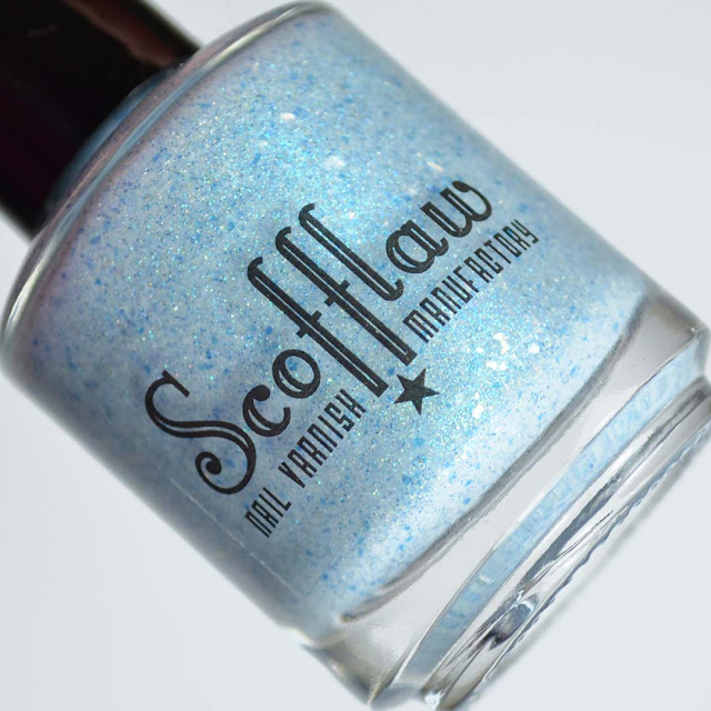 gray nail polish with blue shimmer