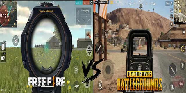 Perbandingan Free Fire vs PUBG Mobile